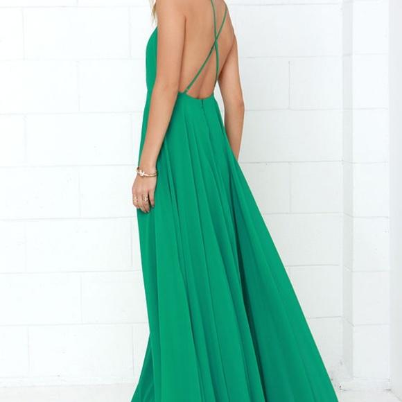 ad3ada7b2d7e9b ... maxi dress xs. Lulu's Dresses & Skirts - Lulu's Mythical kind of love  green ...